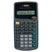 TI-30XA, 10-digit, Engineering and scientific notations, 1-variable statistic, Conversions: Fractions/Decimals; Degrees/Radians/Grads; Degrees-minutes-Seconds/Decimal/Degrees, Battery power