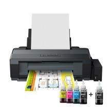 L1300 - nkjet Printers, Consumer/Plain, A3+, 4 Ink Cartridges, KCYM, Manual, 5,706x1,440dpi, 30Pages/minMonochrome (plain paper), 17Pages/minColor (plain paper), 100SheetsStandard, 20Photo Sheets, Memory Cards, USB, Mac OS 10.5.8 or later, Windows 7, Windows 8, Windows Vista, Windows XP, 4 x 70ml individual ink bottles (Bk,C,Y,M) + 1 extra black ink bottle, Driver and utilities (CD), Ink set, Main unit, Power cable