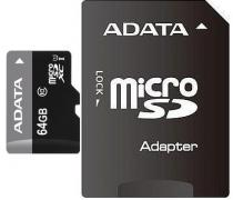 microSDXC, 64 GB, Random Read/Write: 1400 /100 (IOPs), Especially suitable for users of smartphones and tablet computers, multi-tasking operation, SDA 3.0 specification (Ultra High Speed 1, in compliance with SD 2.0 Class 10 speed), extreme cold-resistance, heat-resistance and resistance to x-rays, error correcting code (ECC), SD adapter, 99 ani, AUSDX64GUICL10-RA1