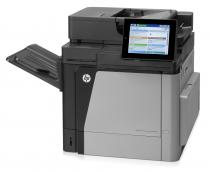 Color LaserJet Enterprise MFP M680dn; A4, max 42ppm mono si color, fpo 10.5 sec, max 1200x1200dpi a/n si color, ImageREt 4800, 2 GB, HP PCL 6, HP PCL 5e, HP postscript level 3 emulation, PDF, PDF and AirPrint (URF and PDF), tavi 100+500coli, duplex, 20.3cm colour touch-screen control panel, HP ePrint, Apple AirPrint, Mobile Apps, scanner: flatbed, CCD, max 60 ppm mono. 45ppm color, max 600dpi optic, 24-bit, 256 niveluri de gri, ADF (duplex) 100 coli, digital sending: Scan-to-e-mail; Save-to-Network Folder; Save-to-USB drive; Send to FTP; Send to LAN Fax; Send to Internet Fax; Local Address Book; SMTP over SSL; copy: max 42cpm mono si color, max 600x600dpi (flatbed), 600x300dpi (ADF), copii multiple 9.999, scalare 25-400%, USB2.0, walk-up USB, retea GB, HP Secure HDD, tonere HP 652 black, HP 653 color, max. 120.000pag/luna, recomandat 3.000-17.000 pag/luna; optional accesoriu fax analog, wireless, tava 500 coli + cabinet, tava 2x500 +1500 coli+cabinet, 900-sheet 3-bin stapling mailbox