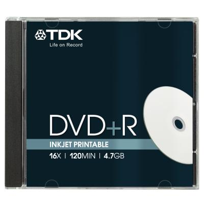 DVD+R TDK 4,7GB 16X JEWEL CASE PRINTABLE 10 BUC