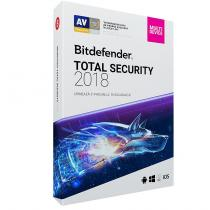 ANTIVIRUS BITDEFENDER TOTAL SECURITY 2018 1AN 5PC RETAIL BOX DB11911005