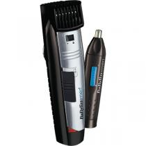 APARAT DE RAS BABYLISS E825PE W-TECH BEARD TRIMMER + NOSE TRIMMER