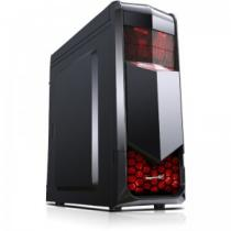 CARCASA SEGOTEP FIGHTER C BLACK/RED SPCC STEEL ATX MID TOWER FARA