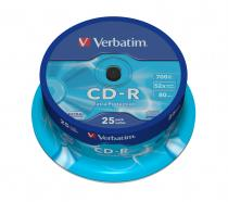 CD-R VERBATIM 700MB 52X EXTRA PROTECTION SPINDLE 25 43432