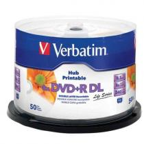 DVD+R VERBATIM DOUBLE LAYER 8,5GB 8X PRINTABLE SPINDLE 50 97693
